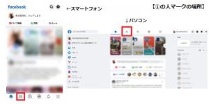 Facebookフレンドページへのボタン